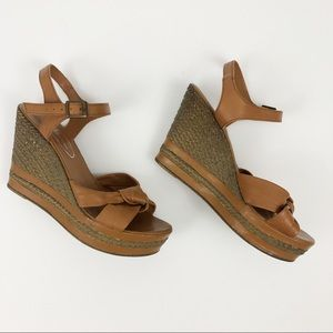 Browns Couture Espadrille Wedge Knot Strap